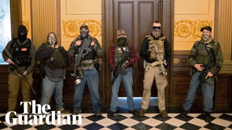 armed-protesters-enter-michigans-state-capitol-demanding-end-to-coronavirus-lockdown-guardian-news